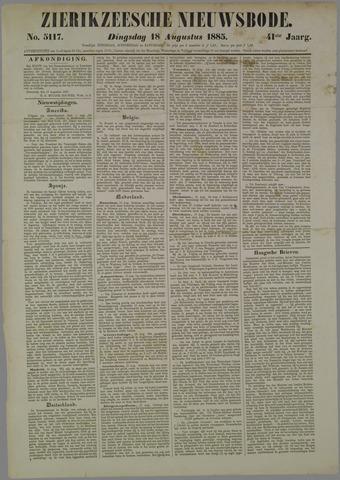 Zierikzeesche Nieuwsbode 1885-08-18