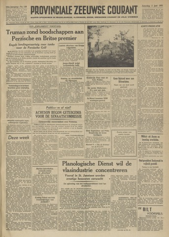 Provinciale Zeeuwse Courant 1951-06-02
