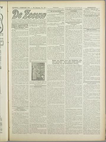 De Zeeuw. Christelijk-historisch nieuwsblad voor Zeeland 1944-02-01