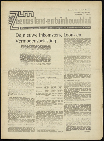 Zeeuwsch landbouwblad ... ZLM land- en tuinbouwblad 1964-06-26