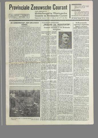 Provinciale Zeeuwse Courant 1940-09-05