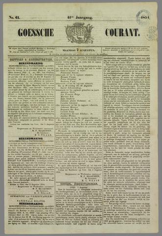 Goessche Courant 1854-08-07