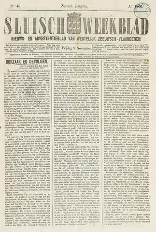 Sluisch Weekblad. Nieuws- en advertentieblad voor Westelijk Zeeuwsch-Vlaanderen 1866-11-09