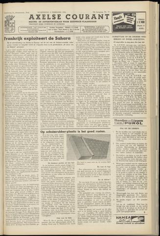 Axelsche Courant 1956-02-08