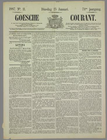 Goessche Courant 1887-01-25