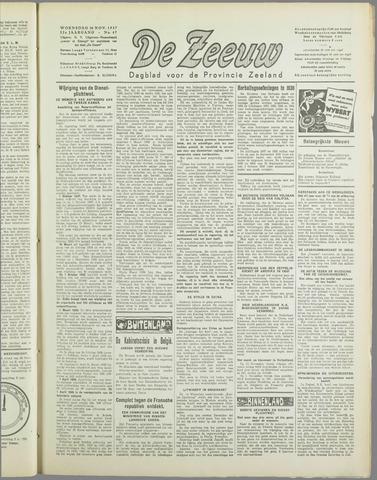 De Zeeuw. Christelijk-historisch nieuwsblad voor Zeeland 1937-11-24
