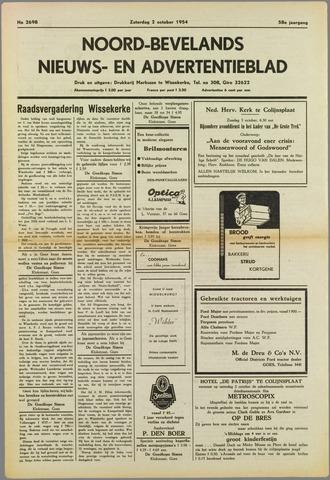 Noord-Bevelands Nieuws- en advertentieblad 1954-10-02