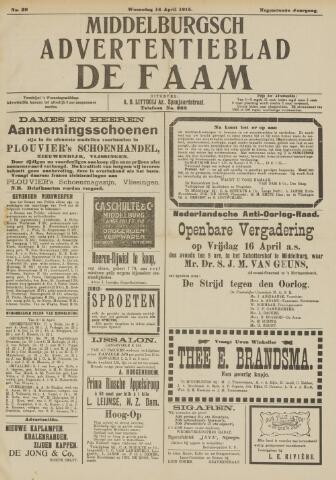 de Faam en de Faam/de Vlissinger 1915-04-14