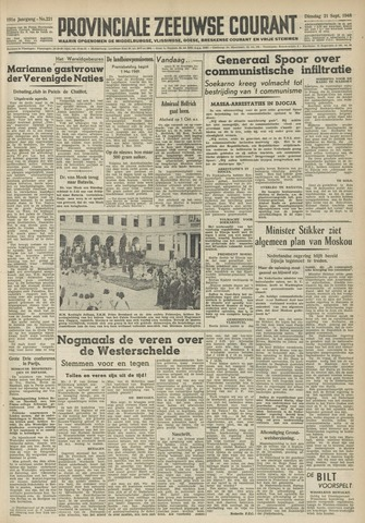 Provinciale Zeeuwse Courant 1948-09-21