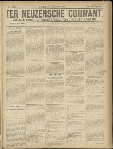 Ter Neuzensche Courant. Algemeen Nieuws- en Advertentieblad voor Zeeuwsch-Vlaanderen / Neuzensche Courant ... (idem) / (Algemeen) nieuws en advertentieblad voor Zeeuwsch-Vlaanderen 1928-08-31