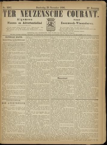 Ter Neuzensche Courant. Algemeen Nieuws- en Advertentieblad voor Zeeuwsch-Vlaanderen / Neuzensche Courant ... (idem) / (Algemeen) nieuws en advertentieblad voor Zeeuwsch-Vlaanderen 1896-11-26