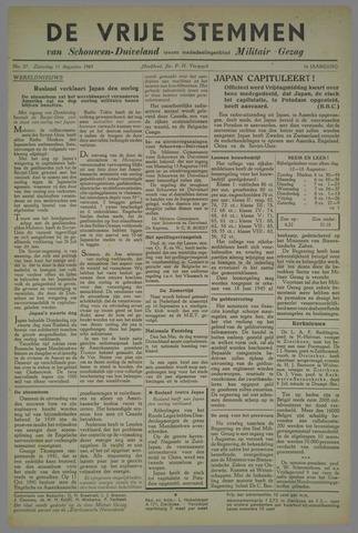 Vrije Stemmen van Schouwen-Duiveland, tevens mededeelingenblad Militair Gezag 1945-08-11