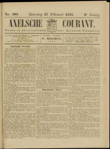 Axelsche Courant 1891-02-21