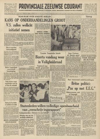 Provinciale Zeeuwse Courant 1961-07-28