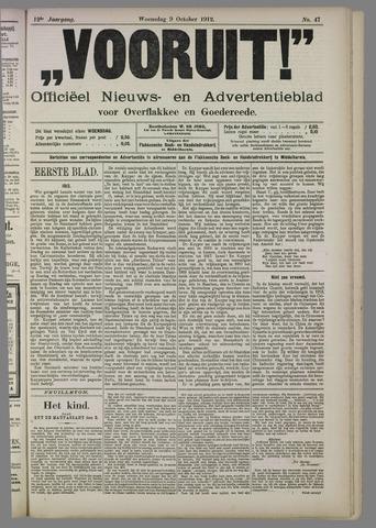 """""""Vooruit!""""Officieel Nieuws- en Advertentieblad voor Overflakkee en Goedereede 1912-10-09"""