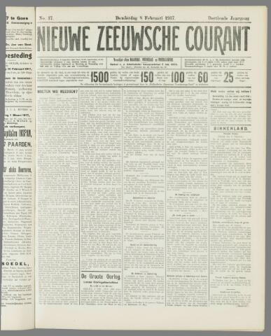Nieuwe Zeeuwsche Courant 1917-02-08