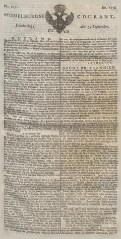 Middelburgsche Courant 1776-09-05