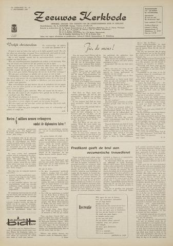 Zeeuwsche kerkbode, weekblad gewijd aan de belangen der gereformeerde kerken/ Zeeuwsch kerkblad 1969-09-11