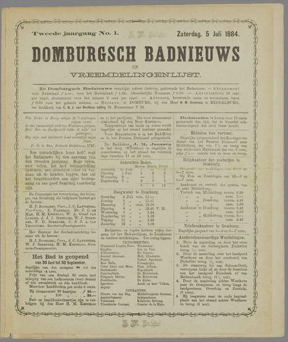Domburgsch Badnieuws 1884