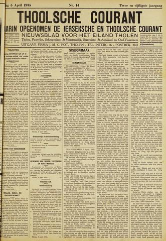 Ierseksche en Thoolsche Courant 1935-04-05