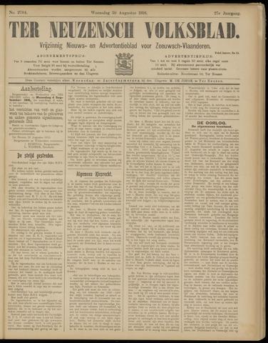 Ter Neuzensch Volksblad. Vrijzinnig nieuws- en advertentieblad voor Zeeuwsch- Vlaanderen / Zeeuwsch Nieuwsblad. Nieuws- en advertentieblad voor Zeeland 1916-08-30
