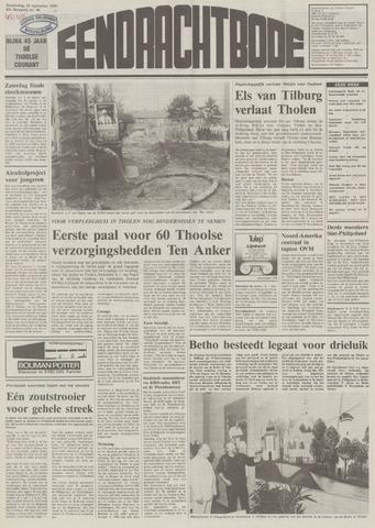 Eendrachtbode (1945-heden)/Mededeelingenblad voor het eiland Tholen (1944/45) 1989-09-28