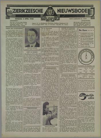 Zierikzeesche Nieuwsbode 1940-04-02