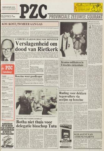 Provinciale Zeeuwse Courant 1986-02-21
