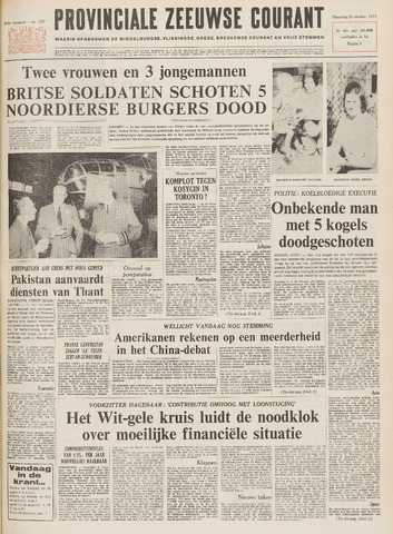 Provinciale Zeeuwse Courant 1971-10-25