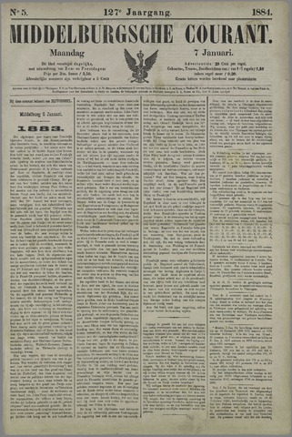 Middelburgsche Courant 1884-01-07