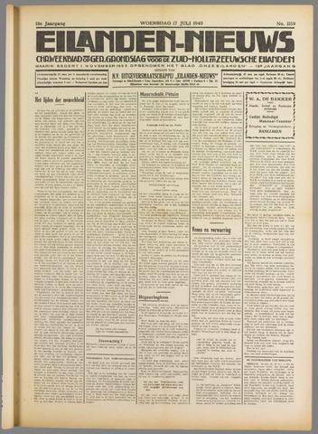 Eilanden-nieuws. Christelijk streekblad op gereformeerde grondslag 1940-07-17