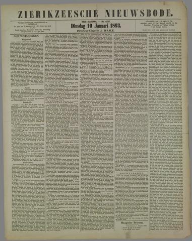 Zierikzeesche Nieuwsbode 1893-01-10