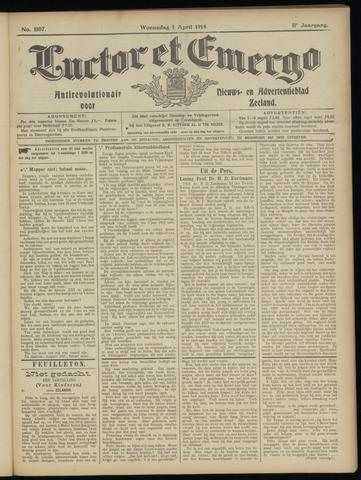 Luctor et Emergo. Antirevolutionair nieuws- en advertentieblad voor Zeeland / Zeeuwsch-Vlaanderen. Orgaan ter verspreiding van de christelijke beginselen in Zeeuwsch-Vlaanderen 1914-04-01