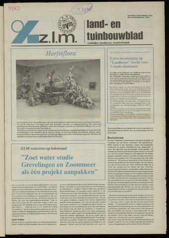 Zeeuwsch landbouwblad ... ZLM land- en tuinbouwblad 1982-11-05
