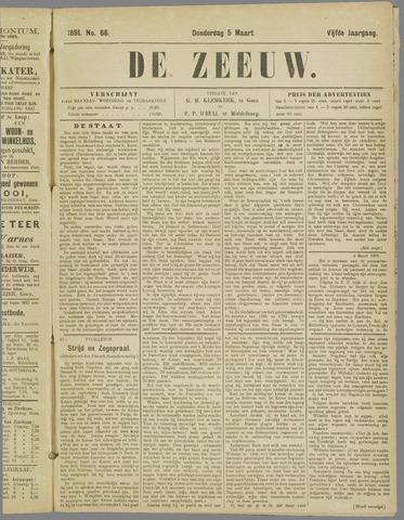 De Zeeuw. Christelijk-historisch nieuwsblad voor Zeeland 1891-03-05