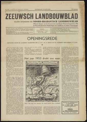 Zeeuwsch landbouwblad ... ZLM land- en tuinbouwblad 1953-06-27