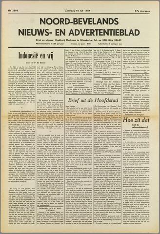 Noord-Bevelands Nieuws- en advertentieblad 1954-07-10