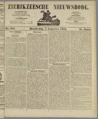 Zierikzeesche Nieuwsbode 1852-08-05