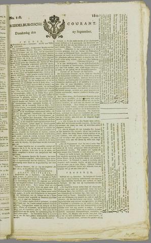 Middelburgsche Courant 1810-09-27