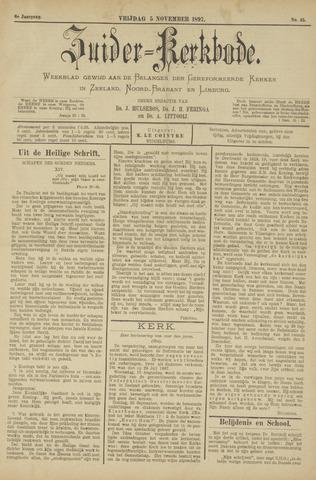 Zuider Kerkbode, Weekblad gewijd aan de belangen der gereformeerde kerken in Zeeland, Noord-Brabant en Limburg. 1897-11-05