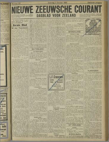 Nieuwe Zeeuwsche Courant 1920-10-02