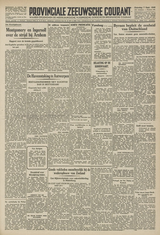 Provinciale Zeeuwse Courant 1946-09-07