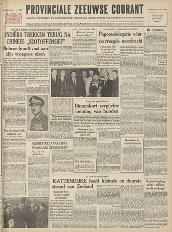 Provinciale Zeeuwse Courant 1962-11-22