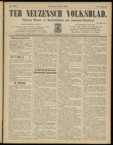 Ter Neuzensch Volksblad. Vrijzinnig nieuws- en advertentieblad voor Zeeuwsch- Vlaanderen / Zeeuwsch Nieuwsblad. Nieuws- en advertentieblad voor Zeeland 1912-06-29