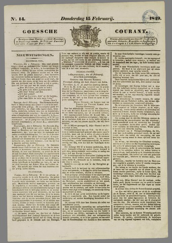 Goessche Courant 1849-02-15