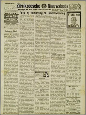 Zierikzeesche Nieuwsbode 1926-05-31