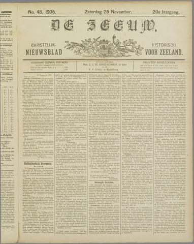 De Zeeuw. Christelijk-historisch nieuwsblad voor Zeeland 1905-11-25