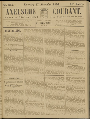 Axelsche Courant 1894-11-17