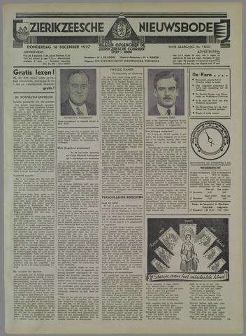 Zierikzeesche Nieuwsbode 1937-12-16