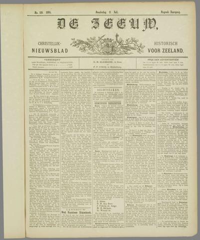 De Zeeuw. Christelijk-historisch nieuwsblad voor Zeeland 1895-07-11